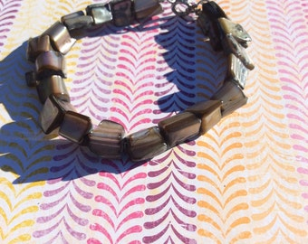 Grey rock looking bracelet