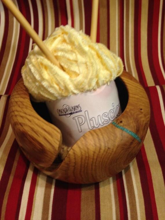 Knitting Oils : Yarn bowloak knitting bowl with walnut oil finish