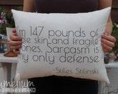 Teen Wolf - Stiles Stilinski quote - I'm 147 pounds of ...