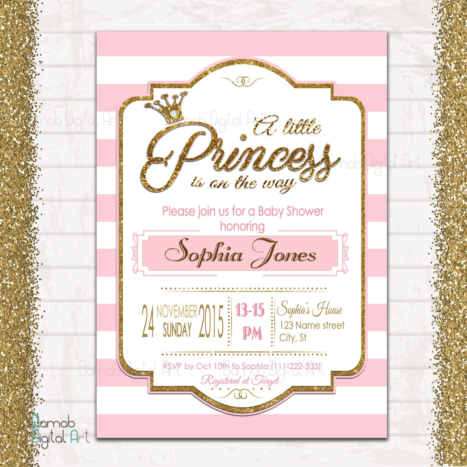 Invitaci 243 N De Princesa Baby Shower Invitaci 243 N Ducha Beb 233