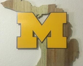 Michigan, Wolverines, Wall Art, Wood Art, Wall Decor