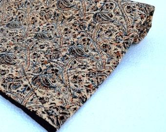 Kalamkari Quilted blankets - Black Forest