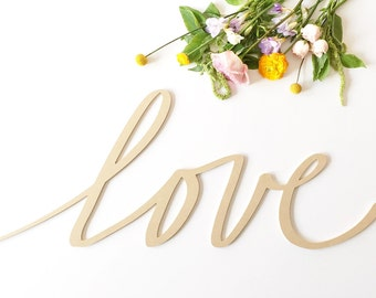 "Love 24"" Wood Letters- Typography Wood Sign"