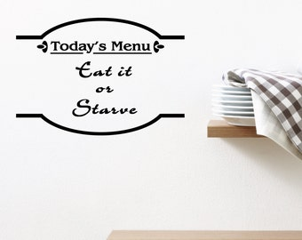 Today's Menu Home Wall Decal Sticker VC0175