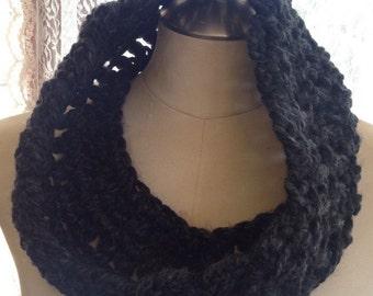 Charcoal grey infinity scarf