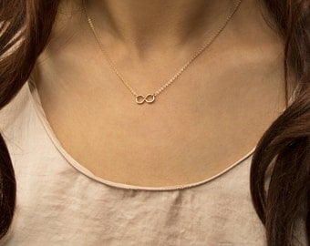 Infinity link gold filled necklace