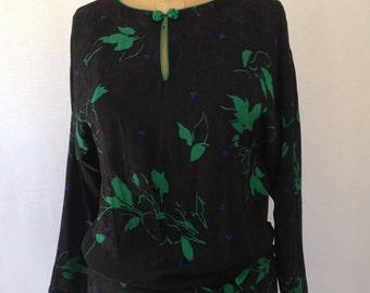 long sleeve silk sheath by Flora Kung