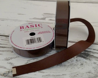 "Grosgrain Ribbon ~ 5/8"" Chocolate"