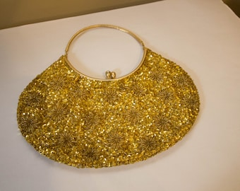 Beautiful gold sequin evening bag