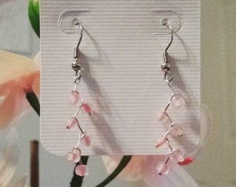 Pink zigzag earrings