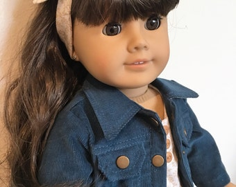 Jeans jacket outfit fits American girl dolls