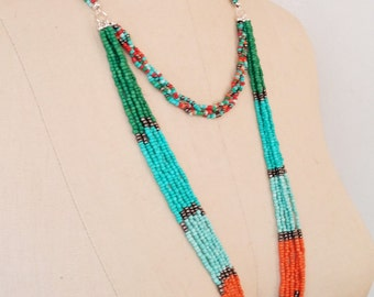 Multi- Colored  Seed Bead Necklace