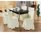 4 Pieces Wedding & Dining Room Decoration Skirted Nice Chair Covers