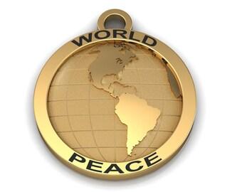 World Peace Bronze Charm