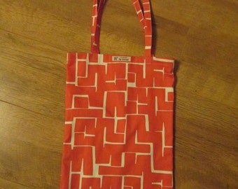 Red Geometric Tote Bag