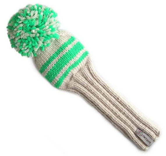 Knitting Pattern Golf Driver Cover : Items similar to knitted Golf headcover
