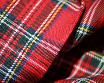 Red Royal Stewart Tartan Fabric