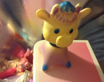 1975 The First Years  Bull Squeak Toy
