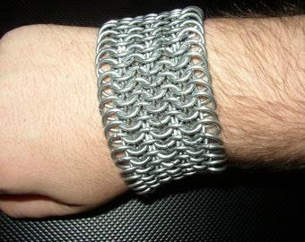 Handcrafted Chainmail Bracelet - 6-in-1 Pattern - 14 Gauge Steel Rings
