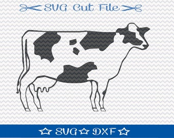 Cow SVG File / SVG Cut File for Silhouette / Farm Animal SVG / 4H svg / Farm svg / Ranch svg