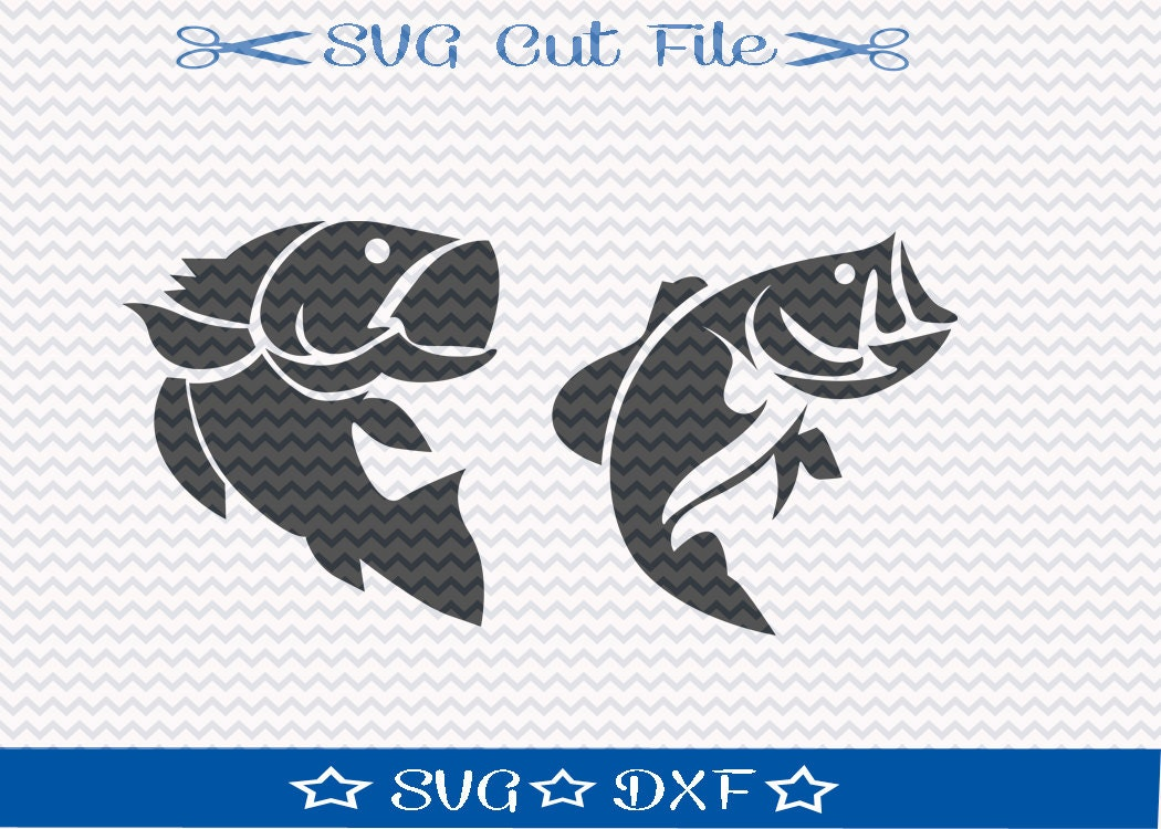 Bass Fishing Svg Cut File For Silhouette Or Cricut