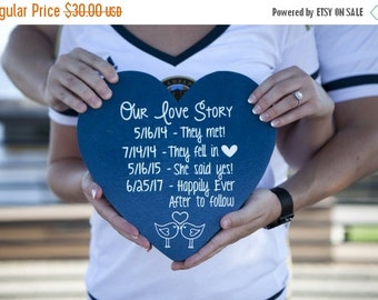 PG0091 - Customize YOUR Love Story! - Personalized Gift - Engagement Photo Prop - Photo Prop - Anniversary Gift - Wedding Gift