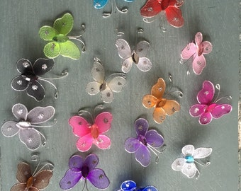 72 pcs. 1 inch Nylon Organza Butterflies Wedding Butterfly & Party Decor 1""