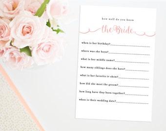 Who Am I Bridal Shower Game Printable Bridal Shower Game