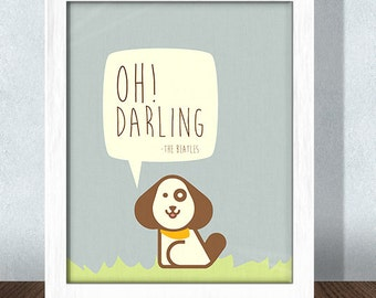 Oh! Darling Beatles Nursery Print