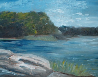 Mere Point Maine - Original Oil Painting