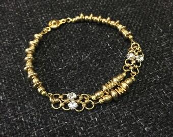 Brass Swarovski crystal bracelet