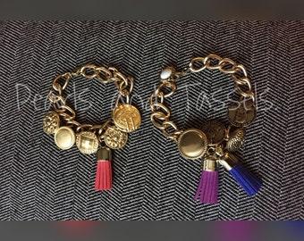 Button and Tassel Bracelet