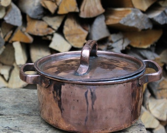 Handmade Copper Pot: Pasta, Soups