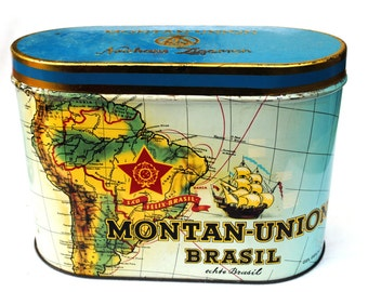 "Old tin Vintage Cigars ""Montan-Union Brasil Zigarren"""