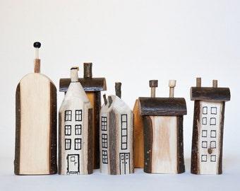 Handmade wooden houses