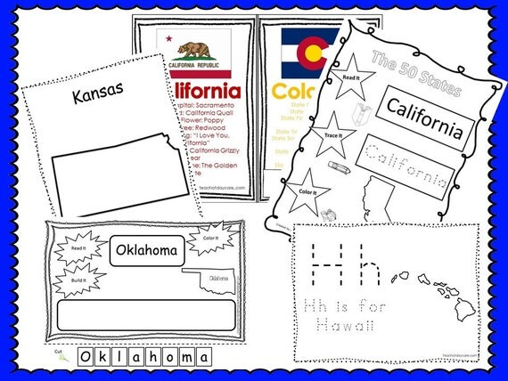 50 states curriculum download  by booksandbubbles on etsy