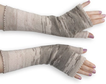 Fingerless Gloves - Arm Warmers - knitted Armwarmers - long Fingerless Gloves - Women Arm Warmers - knit Accessories Size S M