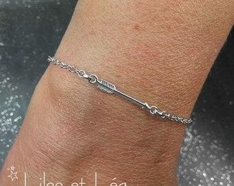 Arrow bracelet, sterling silver 925