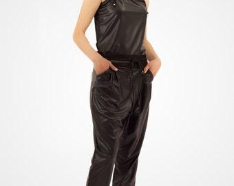 Stile harem pantaloni in jersey di PVC