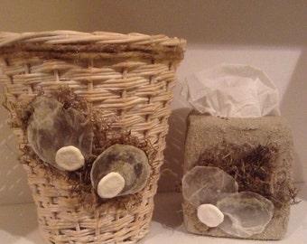 Waste Basket & Tissue Box Holder