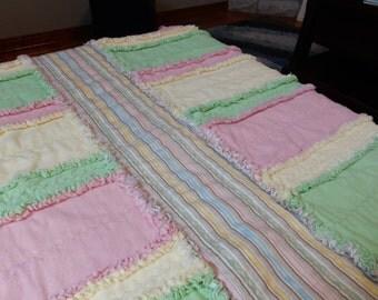 Striped Rag Quilt