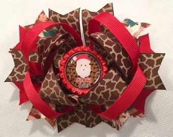 Christmas Stacked Boutique Hair Bows