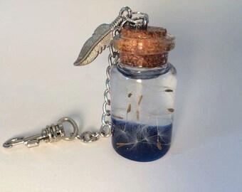 Wish in a bottle keychain!