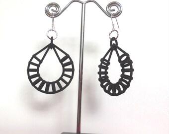 Hoop of Hoops Black 3D Printed Earrings
