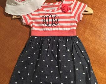 Monogrammed Girls Dress