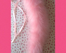 BDSM Pet Play Tail,Cos Play, pink faux fur,kitten play,elastic hoop, ribbon,submissive,slave,kinky gift