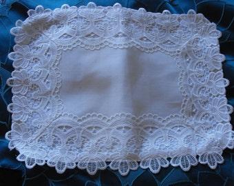 Handmade vintage style baby pillowcase