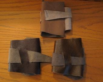 Star Wars Rey Inspired Brown Leather Cuff Bracelets