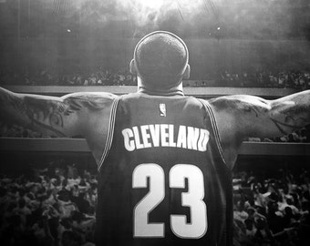 LeBron James. The King. Cleveland Cavs. LBJ. Black and White. NBA Finals. Sports Athlete. Cleveland, OH.