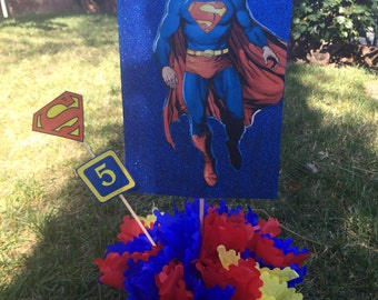 Super Heroes  Centerpiece for you party